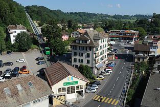 Standseilbahn funiculaire Cossonay